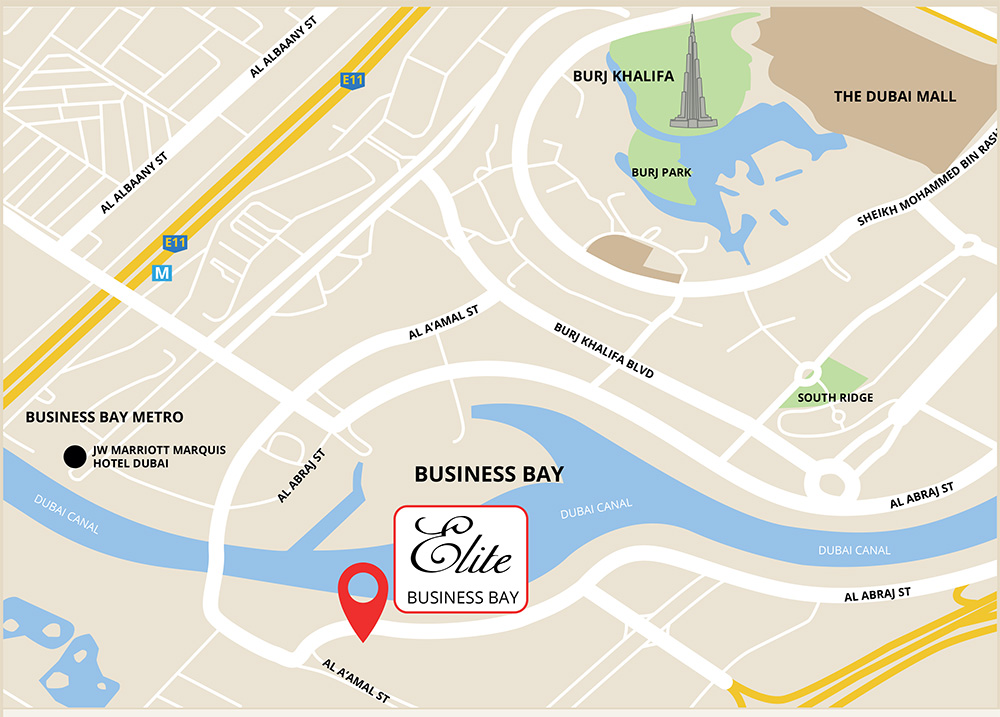 elite business bay location